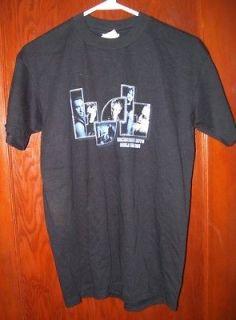 Backstreet Boys 2001 Black & Blue World Tour Concert T Shirt S Black