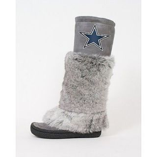 Womens NFL Dallas Cowboys Faux Fur/Suede Devotee Boots by Cuce   size