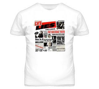 Guns N Roses Axl Rose Lies Rock Metal Slash T Shirt