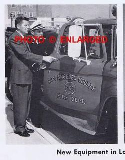 1960s Los Angeles County Fire Department California Equipment Article