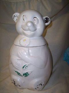 Vintage McCoy Cookie Jar bald head bear RARE OLD McCOY COOKIE JAR NICE