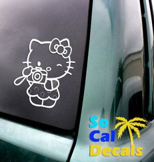 Hello Kitty Camera Vinyl Sticker Car Laptop Decal Window Wall Picture