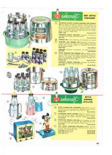 1957 AD HANKSCRAFT BABY BOTTLE STERILIZERS, WARMERS, VAPORIZERS & NITE