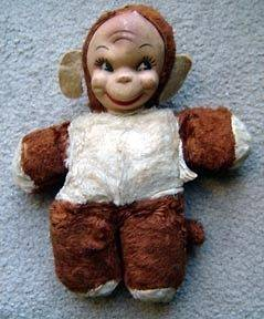 Vintage GUND Monki Monkey 10 Plush Stuffed Animal Figure Rubber Face