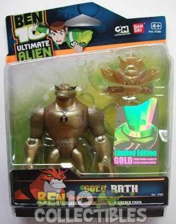 Ban Dai Ben Ten 10 Ultimate Alien UA Rath 4 inch Figure Gold Limited