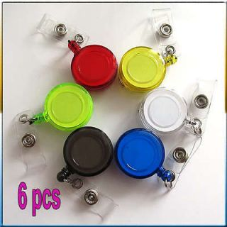 Ski Pass ID Card Badge Holder Key Chain Reels With Metal Clip
