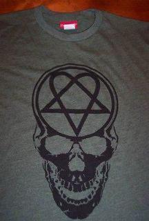 HIM Heartagram Skull T Shirt MEDIUM NEW BAM MARGERA