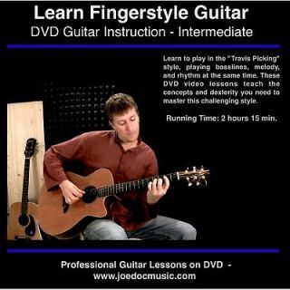Learn Fingerstyle Guitar DVD Lessons great for Gibson J 45 J 200