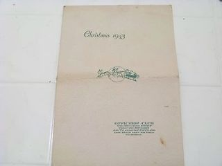 1943 menu officers club 6TH Ferrying Group Division Air transport