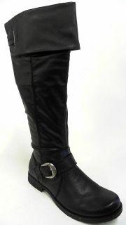Bare Traps Jockey Womens Knee High Boots SZ 9 M Black 1 Heel Solid
