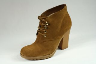 MICHAEL KORS Elliott Bootie Luggage / Brown Suede Womens Boots Shoes
