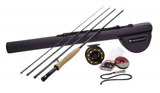 Redington 590 4 Topo Outfit Fly Fishing Rod & Reel Kit 5wt 9 foot 4
