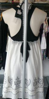TWIN SET SIMONA BARBIERI BLACK WHITE DRESS XS,S,M SS11