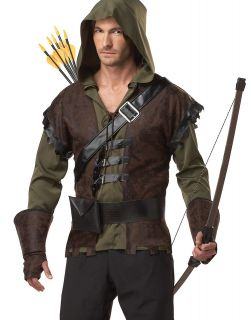 Robin Hood English Outlaw Adult Mens Outfit Halloween Costume XL