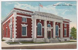 Postcard Post Office in Corinth, Mississippi