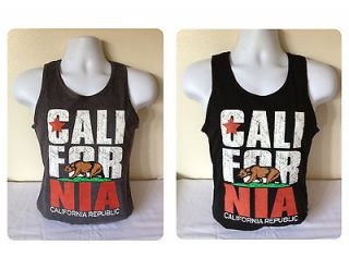 CALIFORNIA REPUBLIC   Adult TANK TOP Shirt Classic California Gear 2