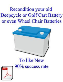 Recondition Your Deep Cycle and Golf Cart Batteries