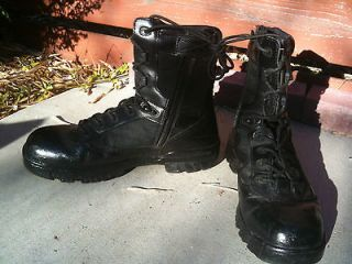 Bates Gore tex Military Combat boots 10 trashed worn leather shoes