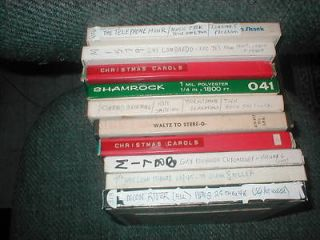 10 REEL TO REEL TAPES CHRISTMAS MUSIC/JAZZ/BIG BAND.SELLOUT PRICE SALE