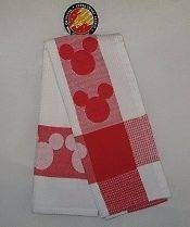 Mickey Mouse Kitchen Towel Red Disneyland Exclusive
