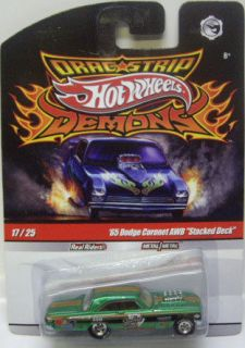 HOT WHEELS DRAG STRIP DEMONS 65 DODGE CORONET AWB STACKED DECK 164