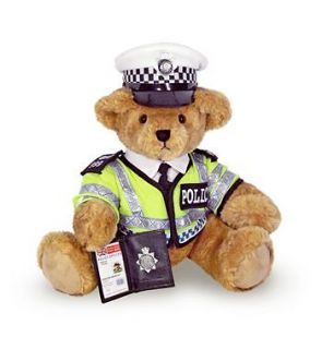 TRAFFIC BOBBY POLICE TEDDY BEAR ROYAL WEDDING Sold Out In Harrods