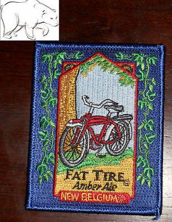 New Belgium Brewing Embroidered Patch Fat Tire Ale Bicycle Fort