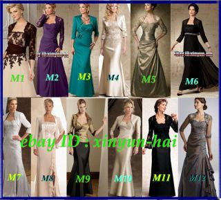 Custom Floor Length Formal Wedding party Mother of the Bride dresses