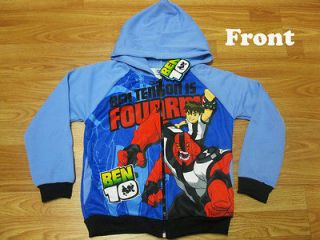 Ben 10 Hooded Spring Jacket #Fourarms Blue Size XXL age 12 14