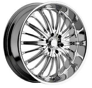 22 inch 22x8.5 Akuza Belle black wheels rims 5x115 +35