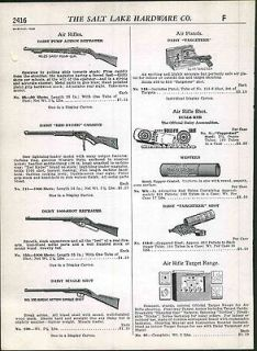 1948 49 ad Air Rifle Benjamin Hy Score Daisy Pump Action Red Ryder