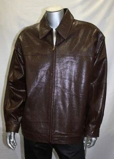 Pelle Pelle BROWN OSTRICH STYLE 100% Genuine Leather Jacket