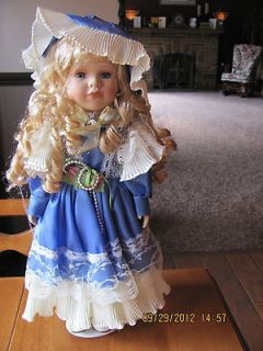 Ashley Belle 15 Porcelain Doll with Display Stand & Box