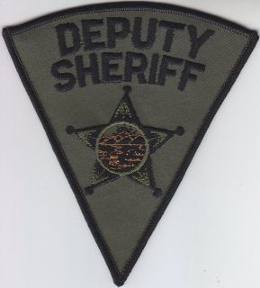Ohio Deputy Sheriff OH police patch SUBDUED OD GREEN swat/tactical
