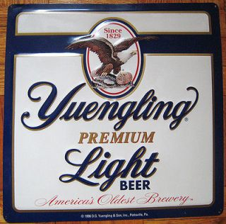 1996 Yuengling Premium Light Beer Sign