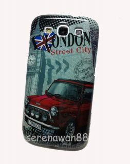 Galaxy S3 S III i9300 Mini Cooper London Style Plastic Case Cover