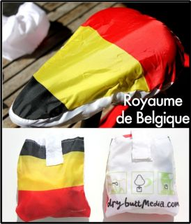 NEW 2012 DryButt waterproof bicycle saddle seat cover Belgium flag