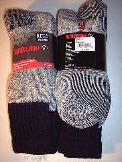 Pairs Mens BIG & TALL Wolverine Hunter Wool Blend Thermal OTC Socks