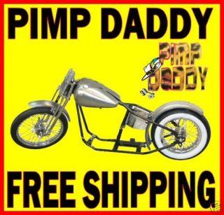 PIMP DADDY RIGID BOBBER CHOPPER ROLLING CHASSIS HARLEY