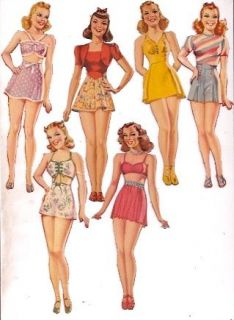 Original 1940s Paper Dolls 12 dolls with clothing