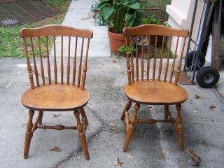 ... BENT U0026 BROS SOLID WOOD CHAIRS GARDNER MASS 1867 QTY 2 ...