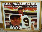 BILL MAZEROSKI HALL FAME INDUCTEE COLLECTIBLE PLATE