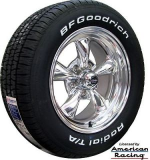 REV CLASSIC WHEELS & 205/60 BFGOODRICH T/A TIRES FORD MUSTANG 1965