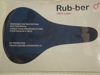 NEW RUB BER GILLES BERTHOUD LATEX WATERPROOF SADDLE SEAT COVER IDEALE