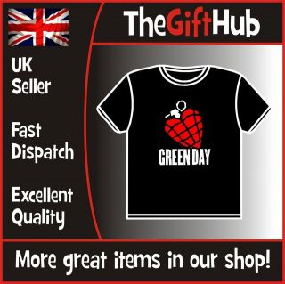 GREEN DAY T SHIRT   AMERICAN IDIOT TOUR BILLY JOE TRE COOL MIKE DOOKIE