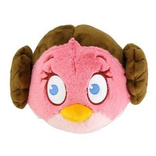 NEW Star Wars Angry Birds Plush 5 Inch Girl Pink Bird LEIA