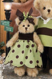Bearington Bears 10 Plush BIBI Teddy Bear In Polka Dots ~NEW~