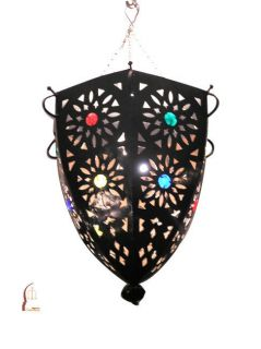 Mediterranean Faux Stained Glass Chandelier (Morocco)