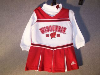 Adidas Wisconsin Badgers Cheerleader Outfit Dress Kids Baby Infant 24M
