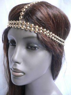 GOLD HEAD CHAIN JEWELRY KARDASH STYLE FASHION HAIR ACCESSORIES BAND